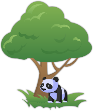 e-Waste Recycling Logo Panda and Tree